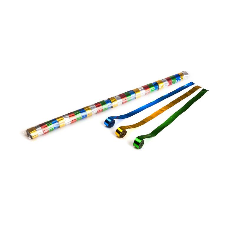 Schritt 2: GIGANT – Metallic Streamer bunt – 10 m x  1,5 cm – 32 Rollen