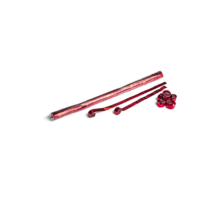 Schritt 2: GIGANT – Metallic Streamer rot – 10 m x  1,5 cm – 32 Rollen