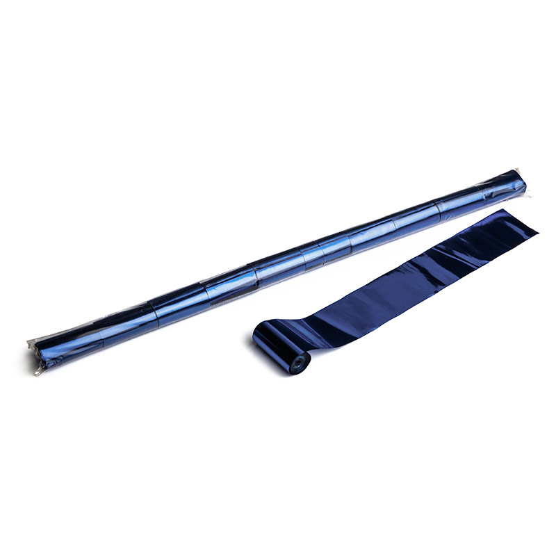 Schritt 2: GIGANT - Metallic Streamer dunkelblau - 10 m x  5 cm - 20 Rollen