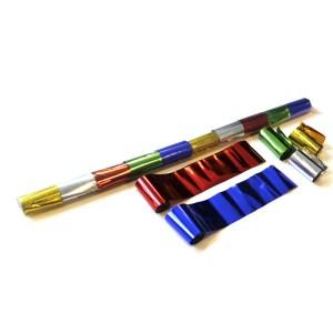 Schritt 2: GIGANT - Metallic Streamer bunt - 10 m x  5 cm - 20 Rollen