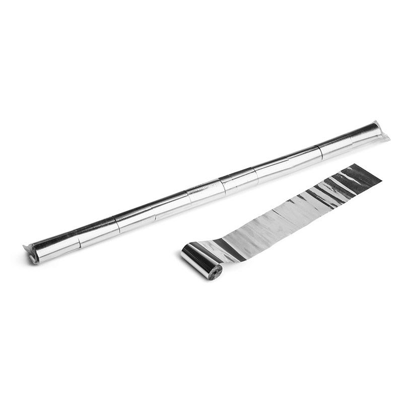Schritt 2: GIGANT - Metallic Streamer silber - 10 m x  5 cm - 20 Rollen