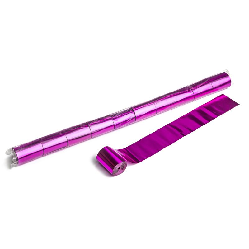 Schritt 2: GIGANT - Metallic Streamer pink - 20 m x  5 cm - 10 Rollen