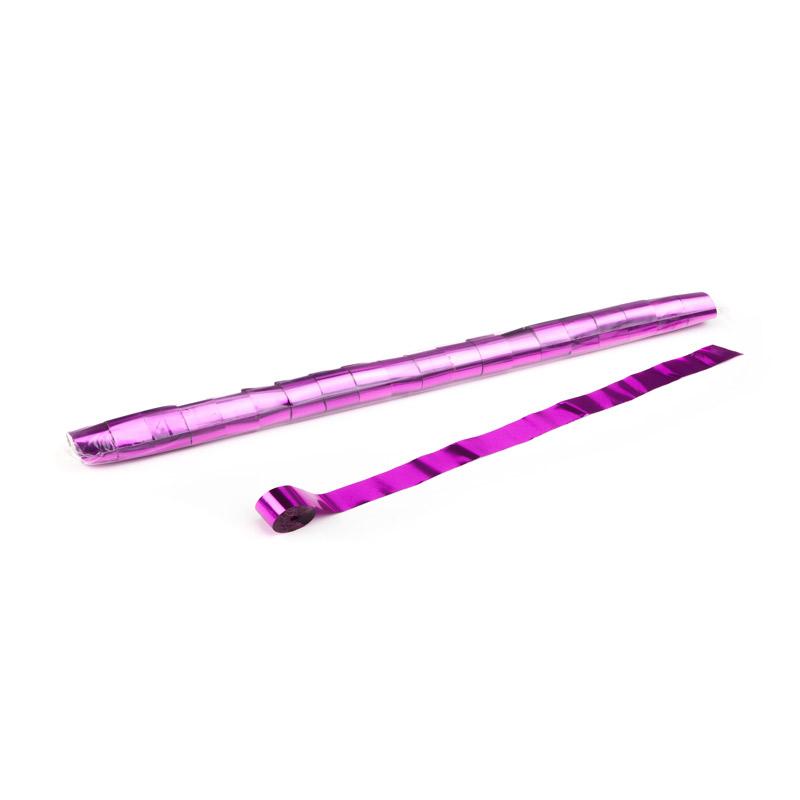 Schritt 2: GIGANT - Metallic Streamer pink - 10 m x  2,5 cm - 32 Rollen