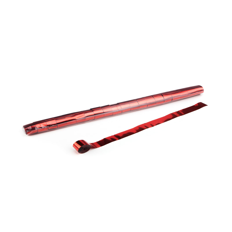 Schritt 2: GIGANT – Metallic Streamer rot – 10 m x  2,5 cm – 32 Rollen