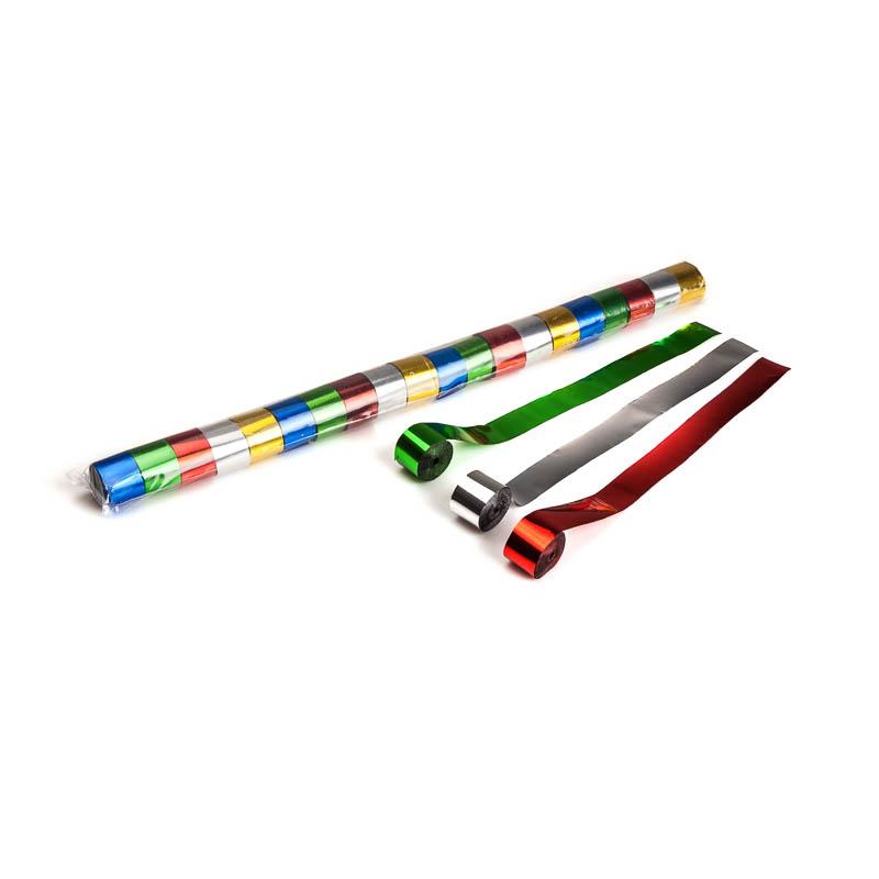 Schritt 2: GIGANT – Metallic Streamer bunt – 10 m x  2,5 cm – 20 Rollen – 25/Karton