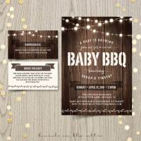 Baby BBQ Shower Invitation   Printable Stationery ...