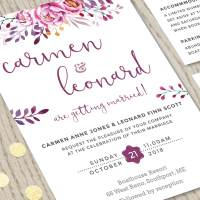 Wine Wedding Invitation Set | Printable Stationery ...