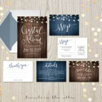 Rustic Wedding Invitation Set | Printable Stationery ...