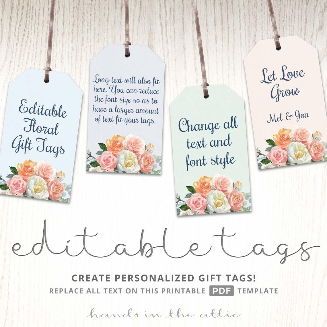 printable floral gift tags