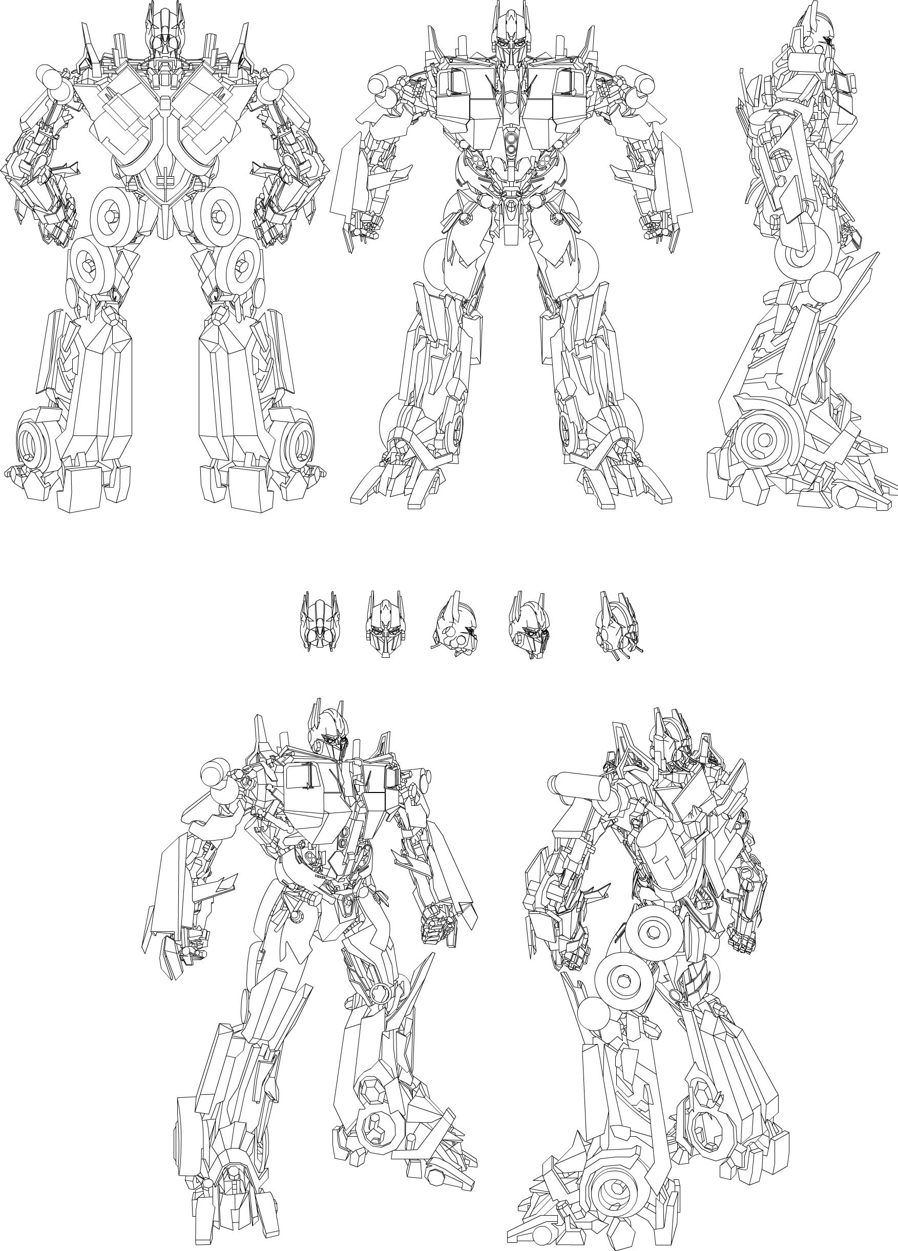 Optimus Prime Blueprint