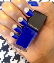 almond nails & moon manicure