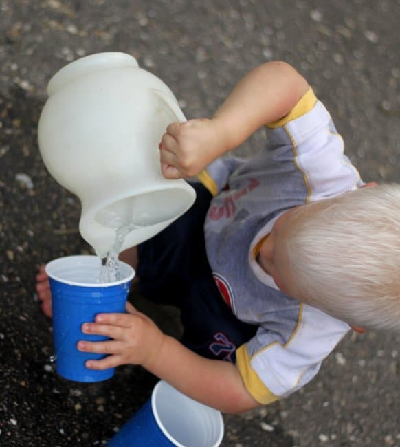 Work on an important life skill, pouring water, with a fun fine motor activity!