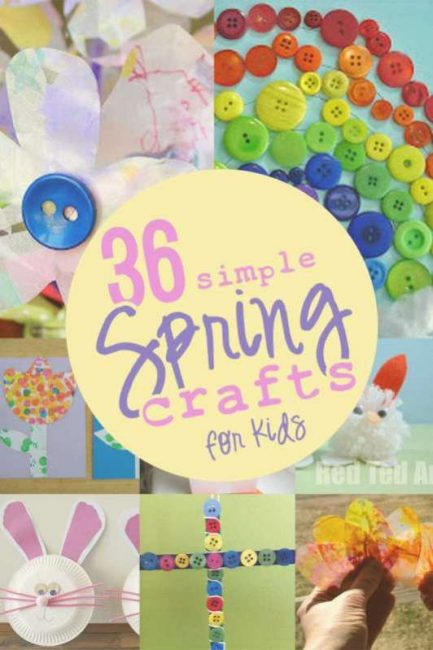 36 simple spring crafts
