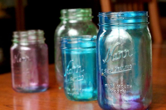 We gave our tinted mason jars to Grandma for Mother's Day! Who will you gift your colorful tint mason jars to?