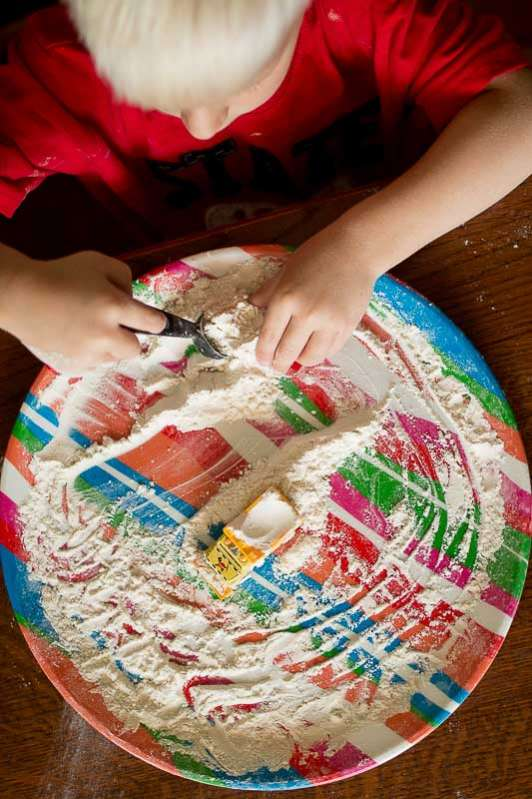 Flour Sensory Play for Toddlers  Being Okay with the