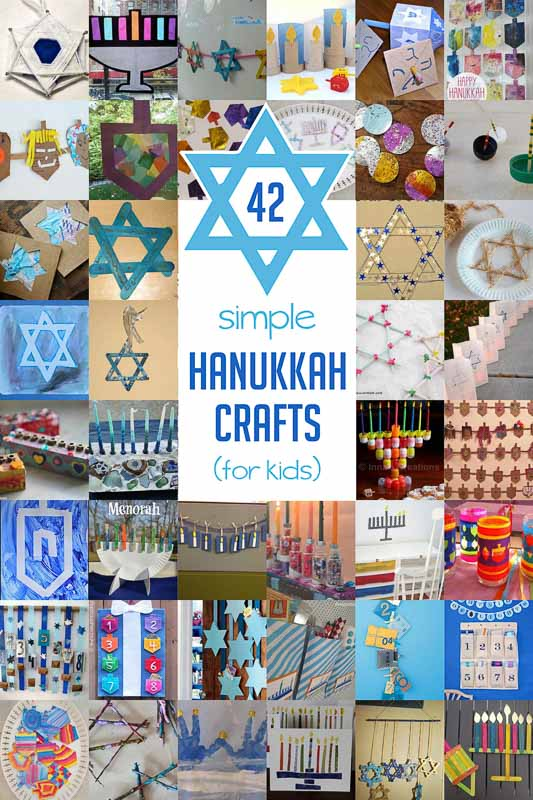 42 Simple Hanukkah Crafts For Kids To Make Hands On As