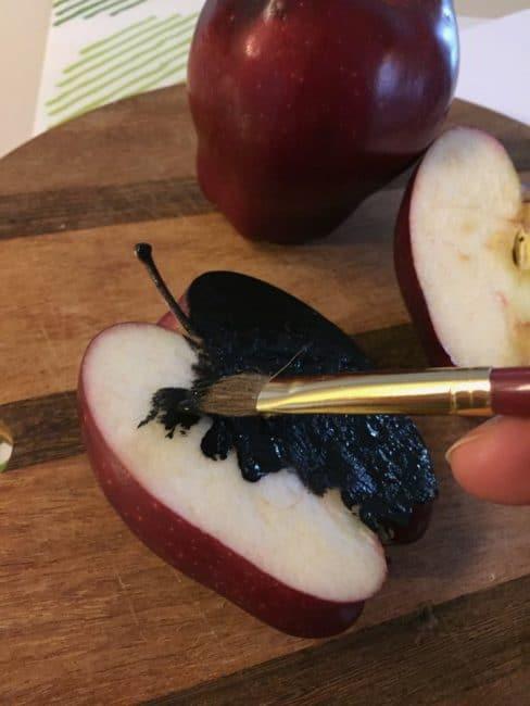 high contrast apple art