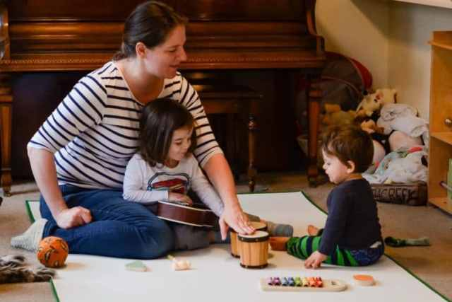 This super simple musical storytelling activity takes no set up and is great for busy toddlers. It's a great game to play together as a family.