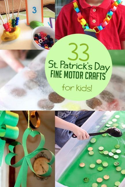 Check out these super fun St. Patrick's Day crafts for kids that are also fun fine motor activities!