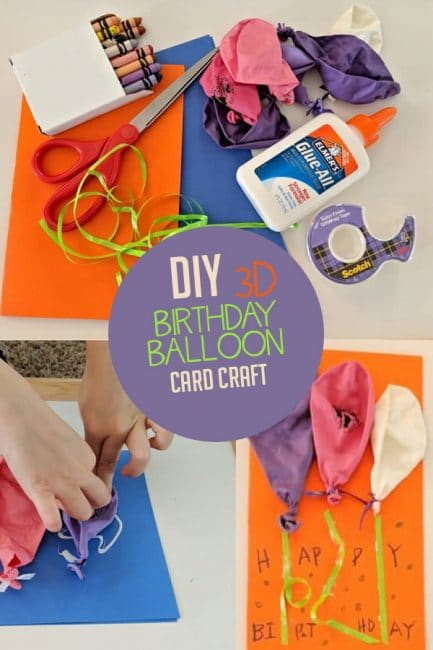 Make a DIY birthday card that's totally poppin' with this super simple tutorial! It's easy for kids to make and so much fun to give or get!