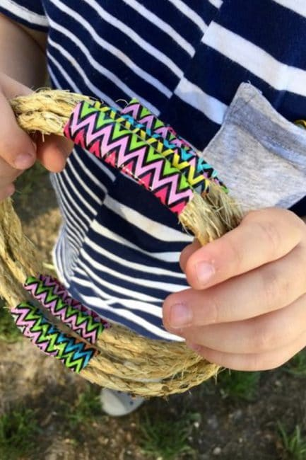Craft your own fun outdoor toy with just a few simple supplies!