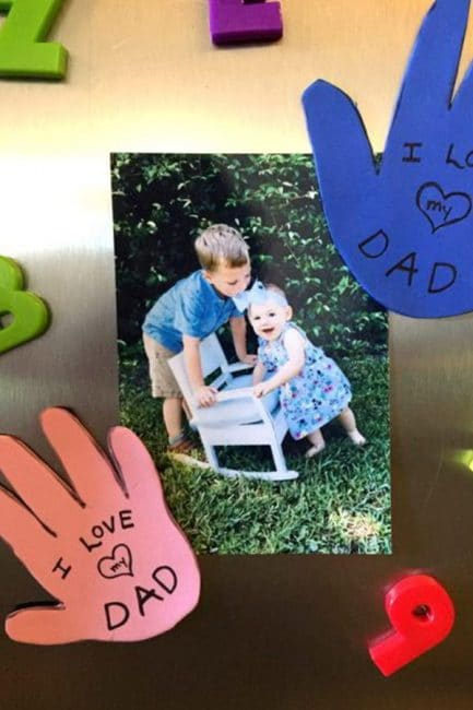 Celebrate Dad in June with a creative art project for kids to do!