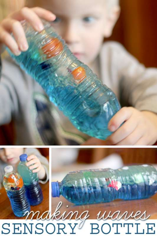 Make A Wave Bottle For Kids To Explore Hands On As We Grow