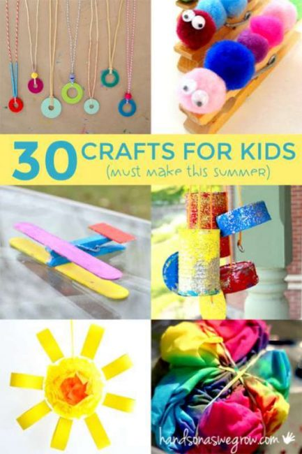 30 Summer Crafts for Kids to Make  hands on  as we grow