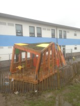 school twisting frame play structure