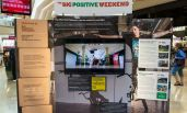 Hammerson Big Positive Weekend display stand