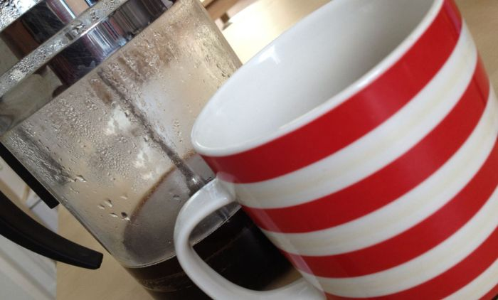 Coffee cup and cafetiere