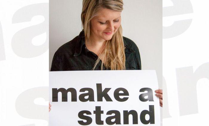 making a stand Fabri Kramer