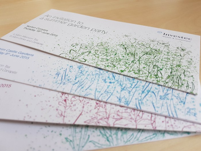 Investec Garden Party Invitations