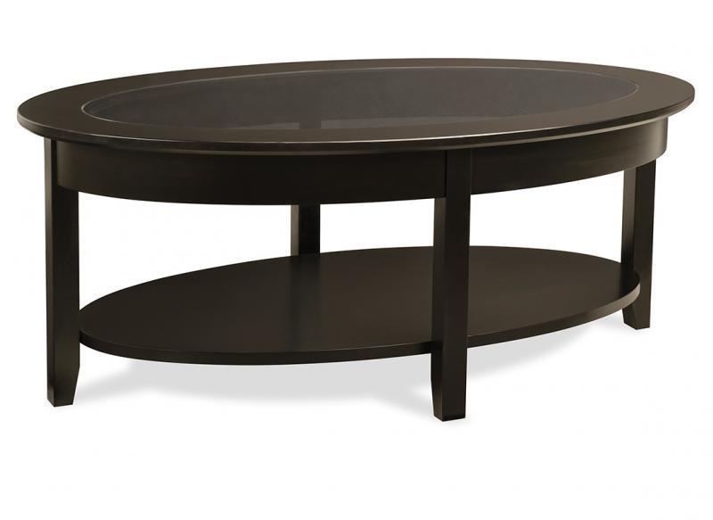 demilune elliptical oval coffee table