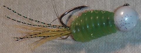 Custom Hand Tied Crappie Jig Green Thing Gummie