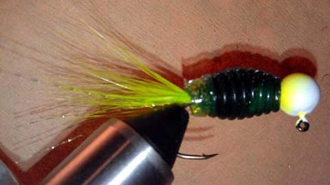 Step 9 in creating a custom handtied jig