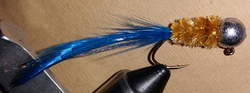 BlueWingTeal Handtied Crappie Jig