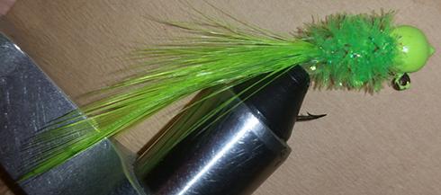 Chartreuse Green Handtied Crappie Jig
