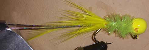 Chartreuse Yellow Handtied Crappie Jig