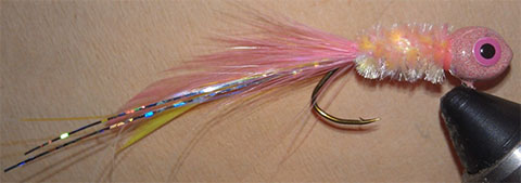 Rosy Red Minnow Handtied Jig