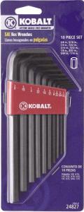 Kobalt SAE Hex Keys
