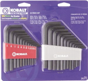 Kobalt Metric & SAE Flat End Hex Key Sets