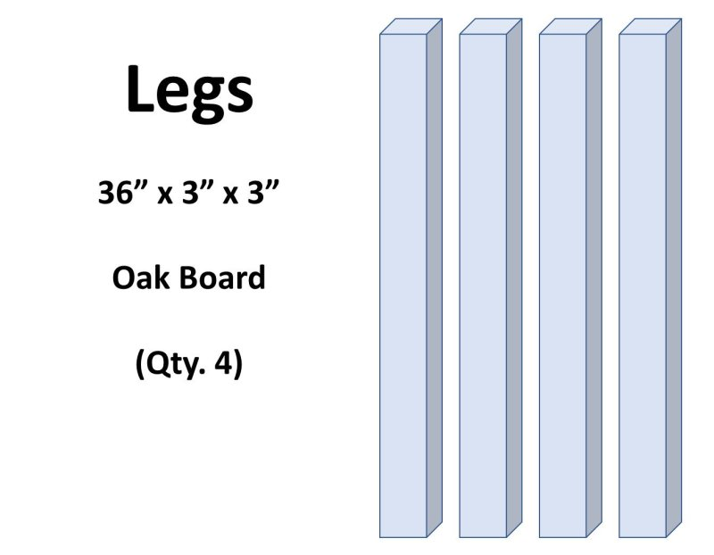 Adirondack Table Legs Wood