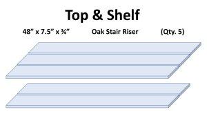 Adirondack Table Top & Shelf Wood