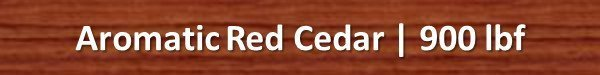 Aromatic Red Cedar Janka Hardness Rating