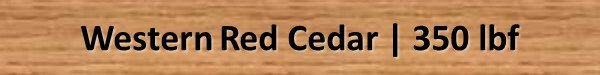 Western Cedar Janka Hardness Rating