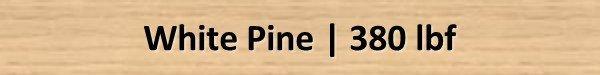 White Pine Janka Hardness Rating