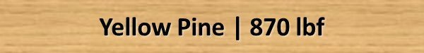Yellow Pine Janka Hardness Rating