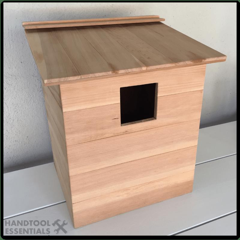 Screech Owl Box House Spanish Cedar DIY Homemade