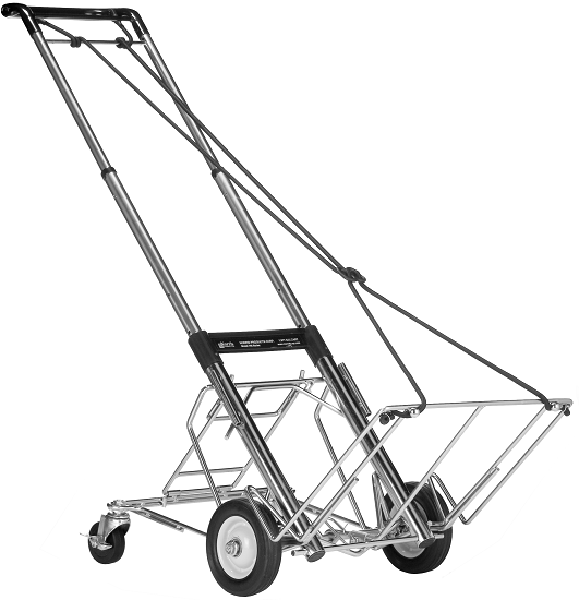 telescoping hand cart, 400 lb capacity with rear wheels